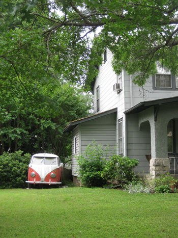 old-vw-bug-in-the-yard-cute-shot
