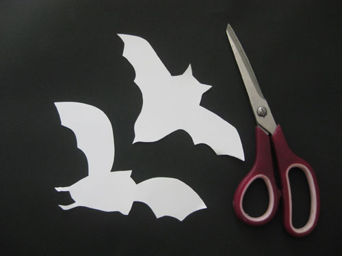 Halloween Fun Making Paper Bats For Our Lamp Shades