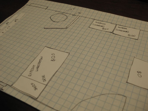 quad grid paper create a to scale sketch with graph paper to make space planning a