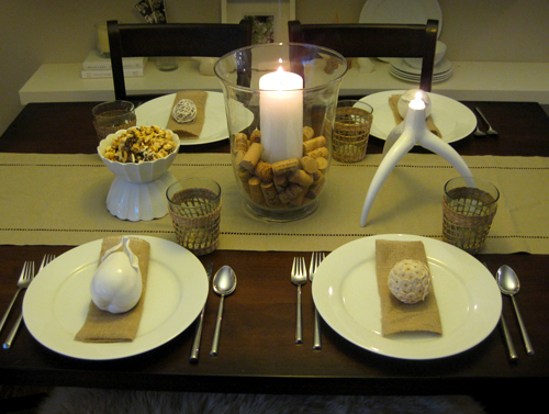 Thanksgiving place settings decor young house love for Easy table settings for thanksgiving