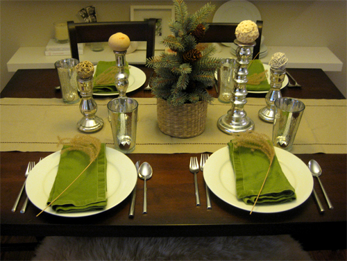 how to set a casual dinner table