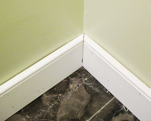 bathroom baseboard ideas. bathroom renovation: how to install baseboards \u0026 trim | young house love baseboard ideas
