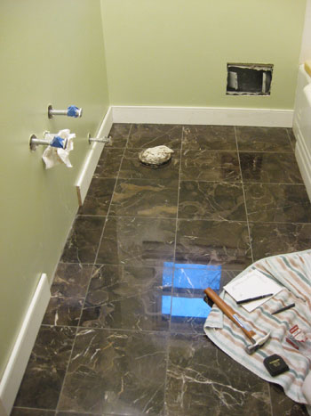 Bathroom Renovation How To Install Baseboards Trim Young