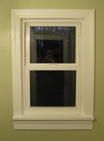 Bathroom Window Molding bathroom renovation: how to install baseboards & trim | young