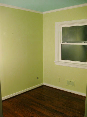 Pear Green Walls Amp A Light Blue Ceiling For The Nursery