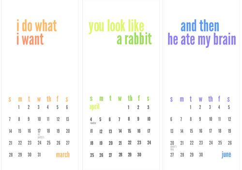 Homemade Calendar Template : Making a homemade calendar free printable included