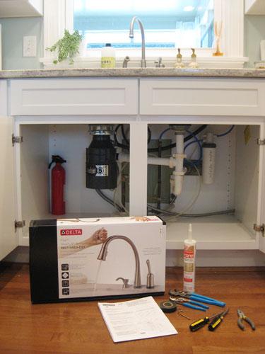 Cabinet sink leak floor or bottom