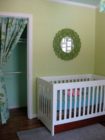 Nursery Progress Painting A Round Mirror For Over The