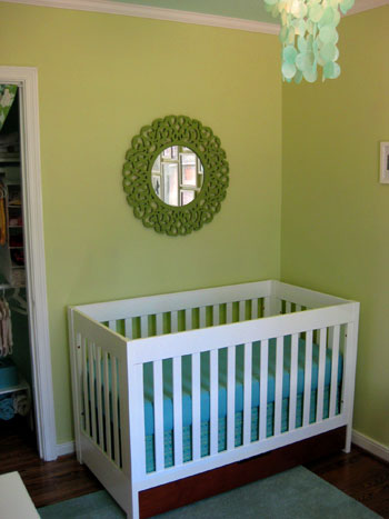 Nursery Progress How To Make A No Sew Crib Skirt Young