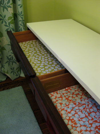 Nursery Progress Lining Our Drawers With Paper Amp Mod