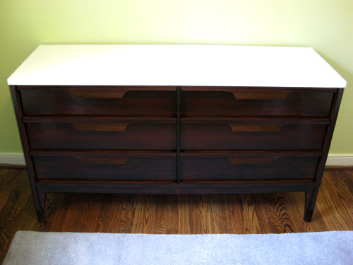 Nursery Progress How To Refinish A Veneer Dresser  Young House Love