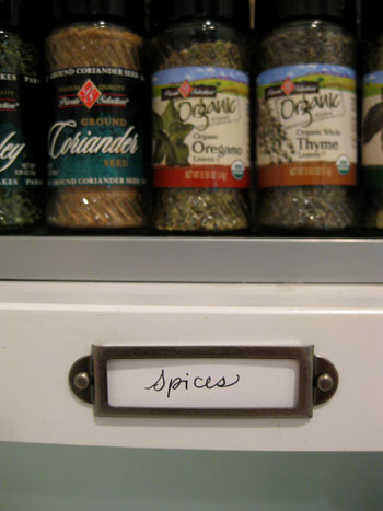 Organizing our kitchen cabinets spices pantry items - Labels for kitchen cabinets ...