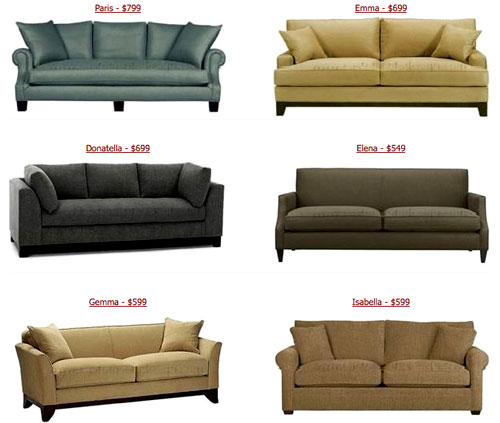 The look for less cheap couches from custom sofa design for Cheap designer couches