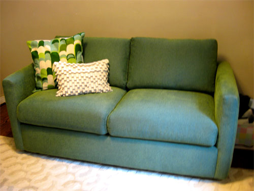 office sleeper bookshelves office progress finding an affordable sleeper sofa young house love
