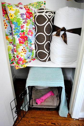 Building An Extra Closet Shelf To Integrate A Dog Crate | Young House Love