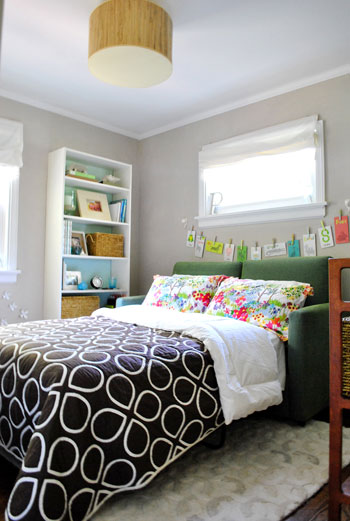 Young House Love | A Home Office That Doubles As A Guest Room