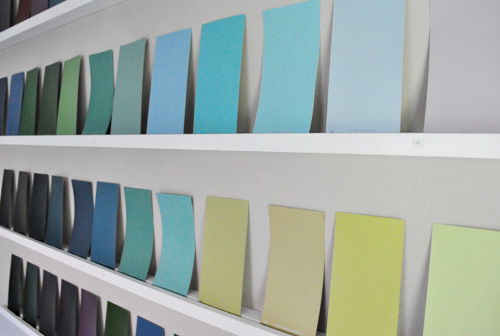 Adding Wall Interest With A Bunch Of Paint Swatches | Young House Love