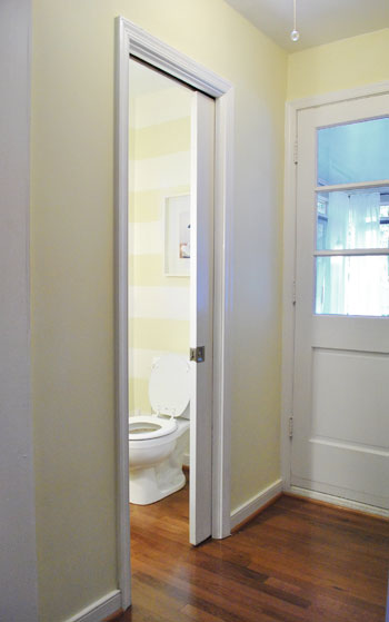 Installing Pocket Doors Bathroom : Fixing a finicky pocket door young house love