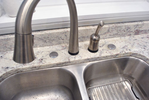 Filling Those Sink Holes In Granite Counters For Soap