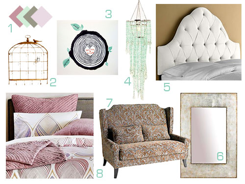Wedding Week III  A Violet  Mint    White Bedroom Mood Board. Mood Boards   Young House Love