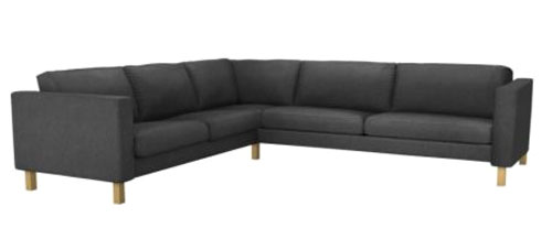 karlstad ikea sectional sofa in charcoal gray