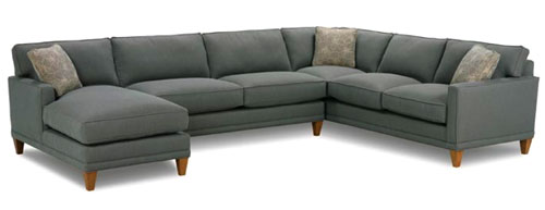 Townsend Rowe Sleeper Sectional Sofa  sc 1 st  Young House Love : ikea karlstad sectional - Sectionals, Sofas & Couches