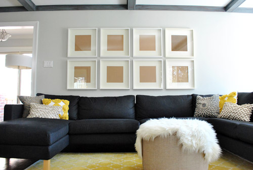 How To Hang A Grid Of Frames Over The Couch And What Not To Do
