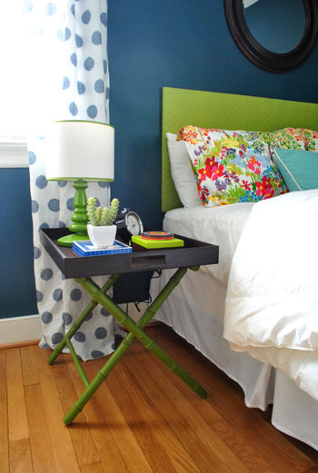 Our 297 Guest Room Makeover Amp A Luggage Tray Side Table