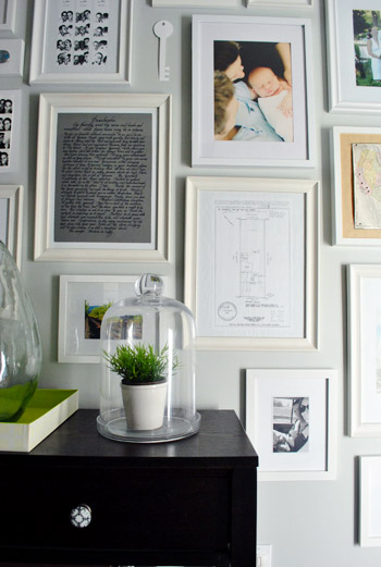 Painting & Hanging Big Metal Keys On Our Gallery Wall | Young House Love