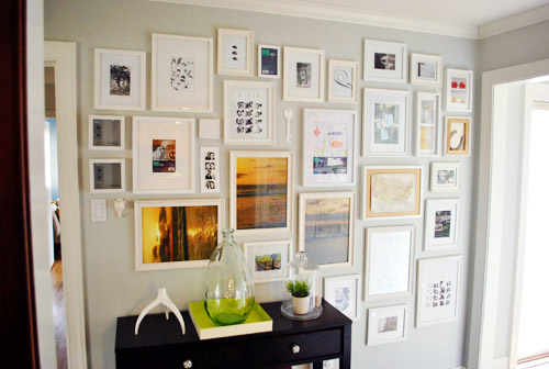 Nice Using Paper Templates To Create A Giant Wall To Wall Frame Gallery | Young  House Love