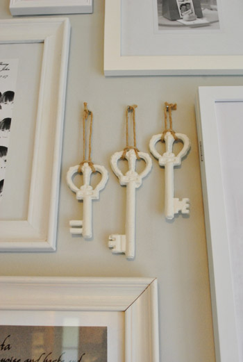 Painting & Hanging Big Metal Keys On Our Gallery Wall   Young House Love