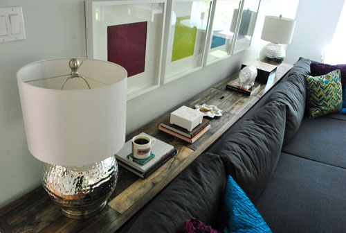 What To Put On A Console Table Behind Couch Young