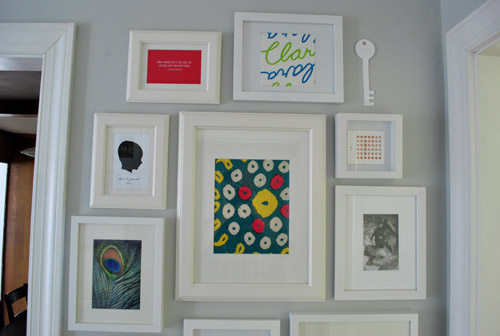 How to make a giant hallway frame gallery young house love - Things to put on a wall ...