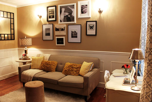 Wall Sconces Family Room : House Crashing: Graphic & Fun Young House Love