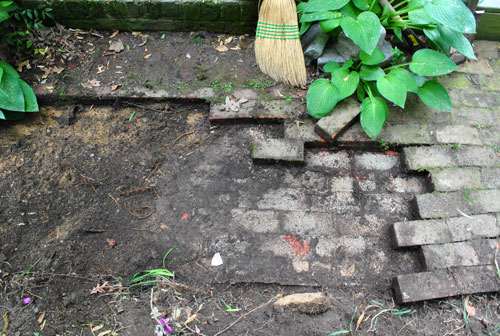 By The Time I Had Removed All Of The Bricks U2013 Aka Prying Them All Loose,  Knocking Some With The Sledgehammer And Carrying Them Away By Hand (to The  Carport, ...