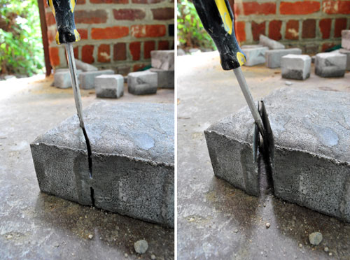 Cut Landscaping Bricks : Despite all of the hassle when it works s a beautiful thing