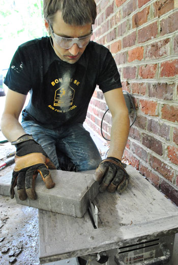 how to cut pavers without a wet saw