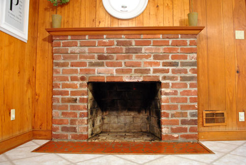How To Prep Prime And Paint A Brick Fireplace Young