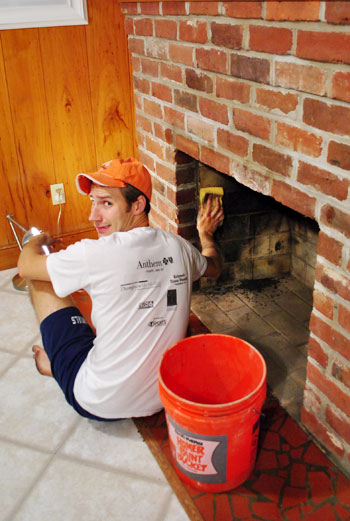 The Beginning Of A Fireplace Makeover: Removing A ...