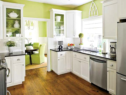 Painted wood paneling woot it 39 s done young house love for White kitchen cabinets turning yellow