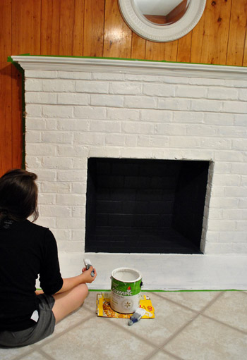 How To Prep Prime And Paint A Brick Fireplace Young House Love