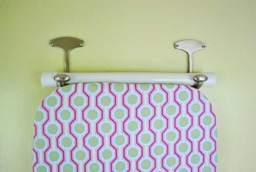 how to hang your ironing board on the wall the easy way. Black Bedroom Furniture Sets. Home Design Ideas