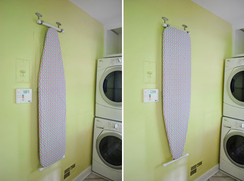 Wall Hanging Ironing Board how to hang your ironing board on the wall (the easy way) | young