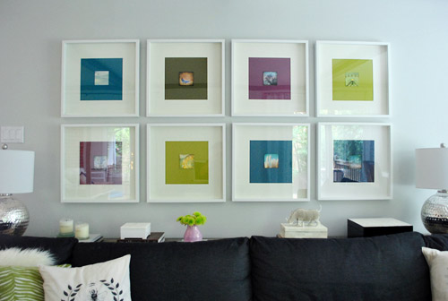 Framing Photography Note Cards With Big Colorful Paper \