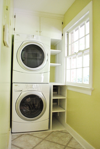Adding Built In Shelves Next To Our Washer Amp Dryer Young