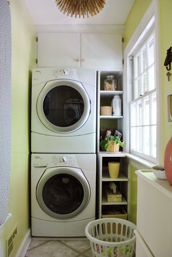 our finished laundry room makeover before afters young house love. Black Bedroom Furniture Sets. Home Design Ideas