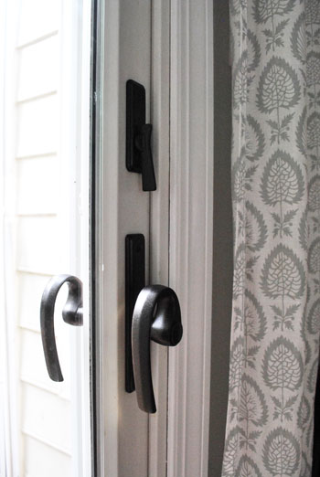 updating old brass hardware handles with spray paint young house. Black Bedroom Furniture Sets. Home Design Ideas