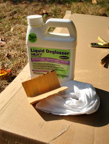 how to use liquid sandpaper