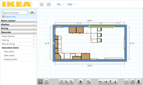 Spectacular Online Tools for Planning A Space in D