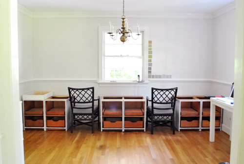 Delightful Making A Big Double Desk With Secondhand Cabinets